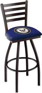 United States Navy Ladder Swivel Bar Stool