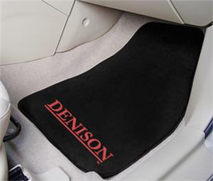 Fan Mats Denison University Carpet Car Mats (set)