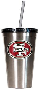 NFL San Francisco 49ers 16oz Tumbler with Straw