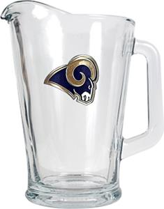 NFL St. Louis Rams 1/2 Gallon Glass Pitcher