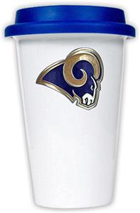 NFL St. Louis Rams Ceramic Cup with Blue Lid