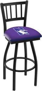 Northwestern University Jailhouse Swivel Bar Stool