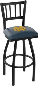 Notre Dame (ND) Jailhouse Swivel Bar Stool