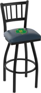Notre Dame Shamrock Jailhouse Swivel Bar Stool