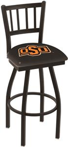 Oklahoma State Univ Jailhouse Swivel Bar Stool