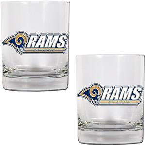 NFL St. Louis Rams 14oz Rocks Glass Set