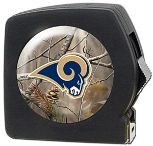 NFL St. Louis Rams 25' Realtree Tape Measure