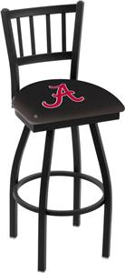 Univ Alabama Script &quot;A&quot; Jailhouse Swivel Bar Stool