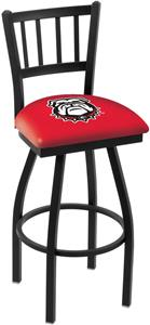 Univ of Georgia Bulldog Jailhouse Swivel Bar Stool
