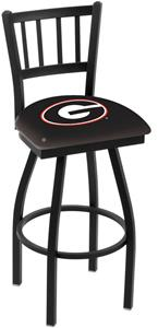 "Univ of Georgia ""G"" Jailhouse Swivel Bar Stool"