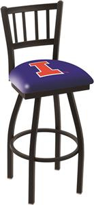 University of Illinois Jailhouse Swivel Bar Stool