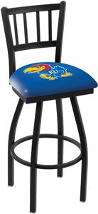 University of Kansas Jailhouse Swivel Bar Stool