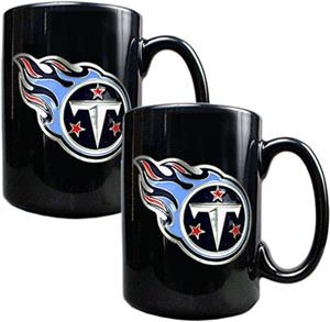 NFL Tennessee Titans Black Ceramic Mug (Set of 2)