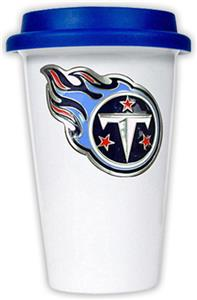NFL Tennessee Titans Ceramic Cup with Blue Lid