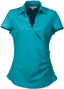TRI MOUNTAIN Emily Women&#39;s Woven V-Neck Shirt