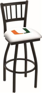 University of Miami FL Jailhouse Swivel Bar Stool