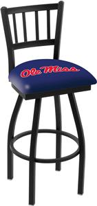 Univ of Mississippi Jailhouse Swivel Bar Stool