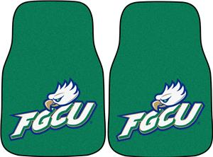 Fan Mats Florida Gulf Coast Univ Carpet Car Mats