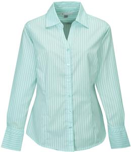TRI MOUNTAIN Taylor Women's Striped Dress Shirt
