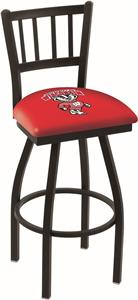 Univ Wisconsin Badger Jailhouse Swivel Bar Stool