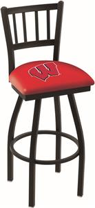 "Univ of Wisconsin ""W"" Jailhouse Swivel Bar Stool"