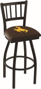 University of Wyoming Jailhouse Swivel Bar Stool