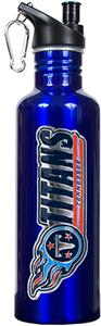 NFL Tennessee Titans Blue Stainless Water Bottle