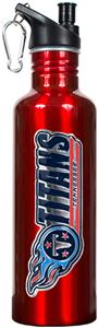 NFL Tennessee Titans Red Stainless Water Bottle
