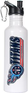 NFL Tennessee Titans White Stainless Water Bottle