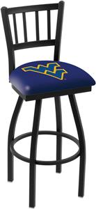 West Virginia Univ Jailhouse Swivel Bar Stool