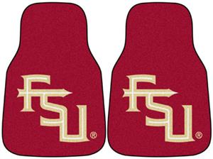 Fan Mats Florida State FSU Logo Carpet Car Mats