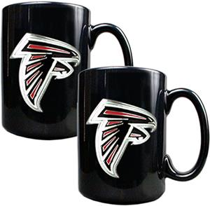 NFL Atlanta Falcons Black Ceramic Mug (Set of 2)