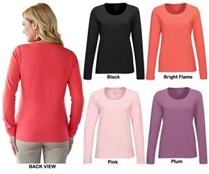 TRI MOUNTAIN Lauren Women&#39;s Scoop Neck Knit Shirt