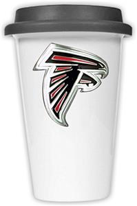 NFL Atlanta Falcons Ceramic Cup with Black Lid