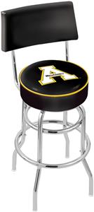 Appalachian State Double-Ring Back Bar Stool
