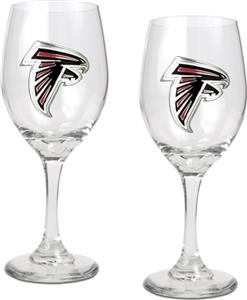 NFL Atlanta Falcons 2 Piece Wine Glass Set