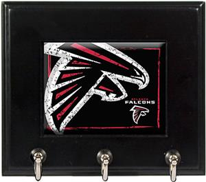 NFL Atlanta Falcons Wood Keyhook Rack