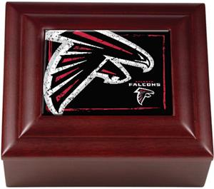NFL Atlanta Falcons Mahogany Keepsake Box