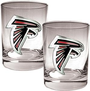 NFL Atlanta Falcons 14oz 2 piece Rocks Glass Set