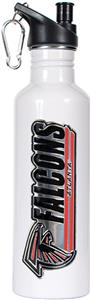 NFL Atlanta Falcons White Stainless Water Bottle