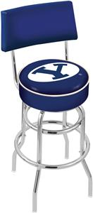 Brigham Young Univ Double-Ring Back Bar Stool
