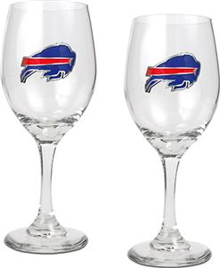 NFL Buffalo Bills 2 Piece Wine Glass Set