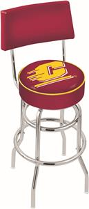 Central Michigan Univ Double-Ring Back Bar Stool