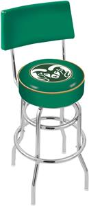 Colorado State Univ Double-Ring Back Bar Stool