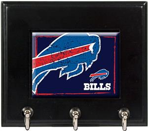 NFL Buffalo Bills Wood Keyhook Rack