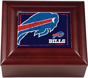 NFL Buffalo Bills Mahogany Keepsake Box