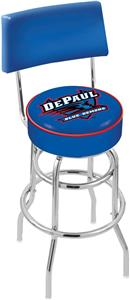 DePaul University Double-Ring Back Bar Stool