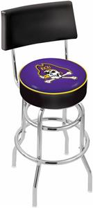 East Carolina Univ Double-Ring Back Bar Stool