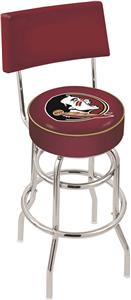 "Florida State ""Head"" Double-Ring Back Bar Stool"