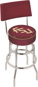 "Florida State ""Script"" Double-Ring Back Bar Stool"